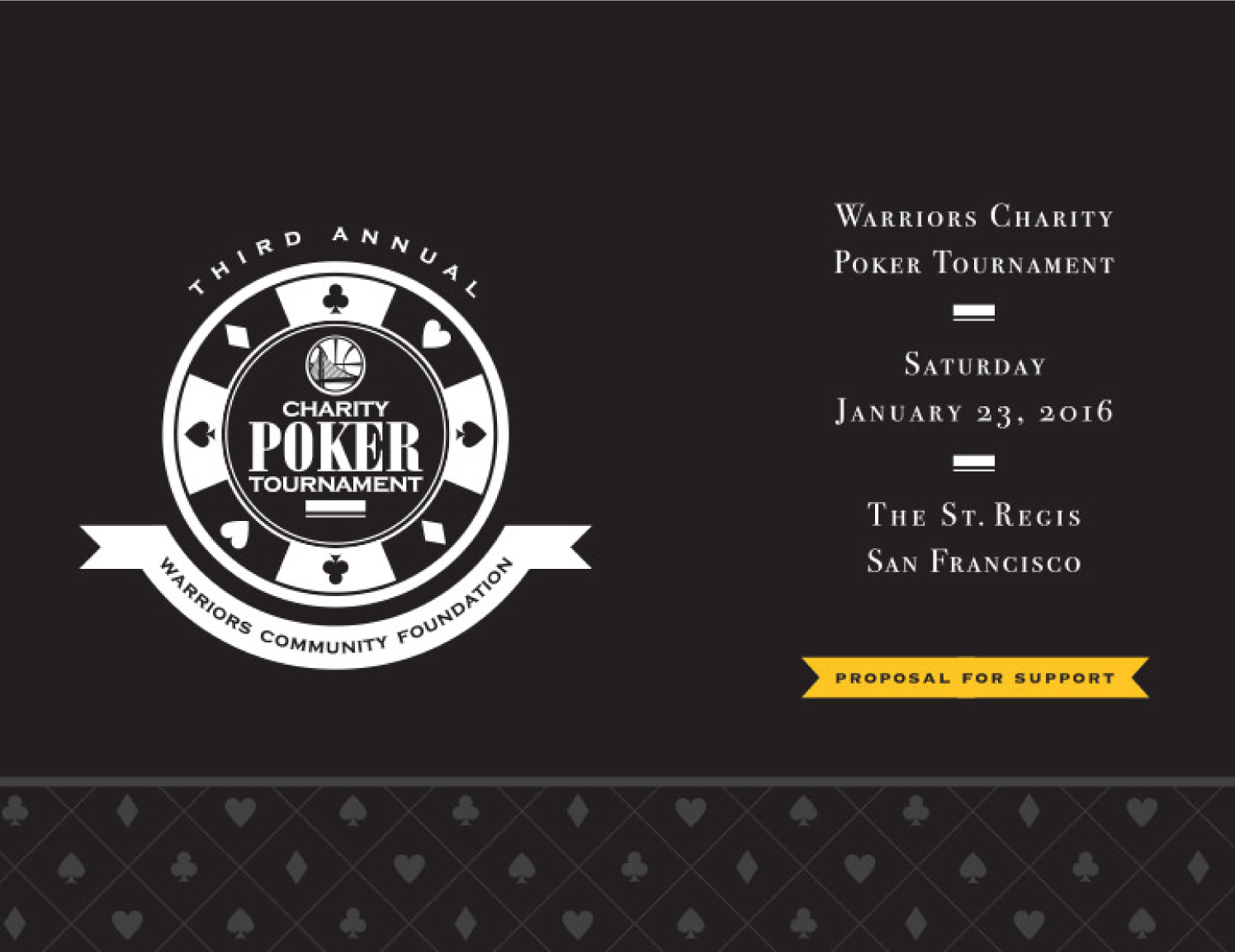 warriors charity poker logo
